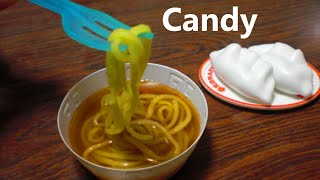 ラーメン風の菓子作り 1 Making mini candy ramen, jiaozi | ASMR
