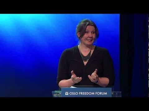 Gry Larsen - Oslo Freedom Forum 2012