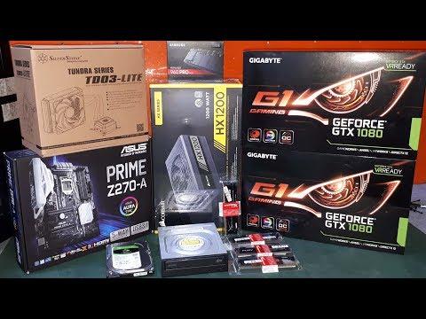 SLI GTX1080 HX1200W i7 7700K OPSIDIAN 750D 960 PRO ULTRA 4K GAMER PC MONTAJ