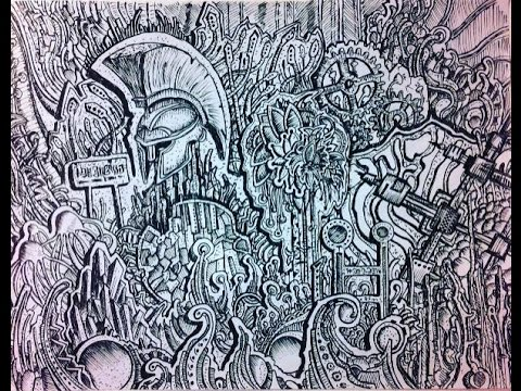 Cool Abstract Drawing Made With Pen Time Lapse