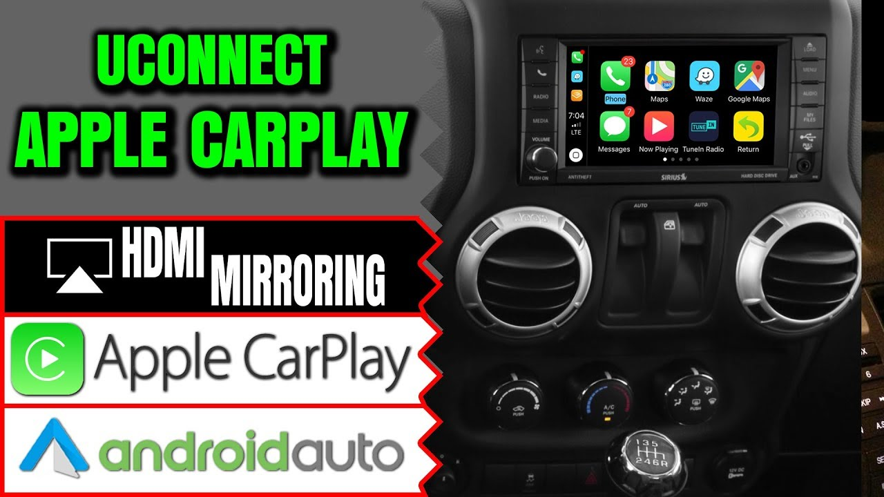 NavTool Apple CarPlay, Smartphone Mirroring & Multiple Cameras Interface  for Uconnect Navigation by NavTool