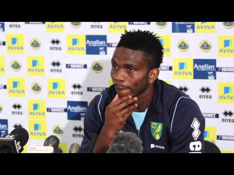 Joseph Yobo's First Press Conference at Norwich City