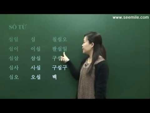 Số từ trong tiếng Hàn
