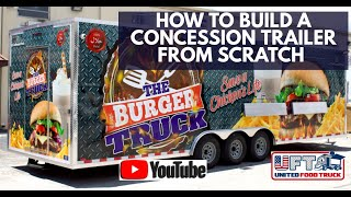 How to build a Concession Trailer from scratch in just 15 days