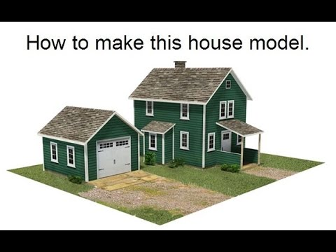 How To Make Scale Model Houses For Railroads