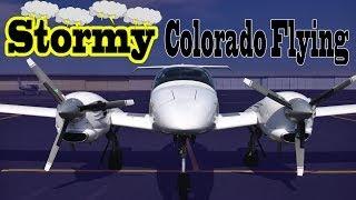 Stormy Colorado Flying || Diamond Twinstar