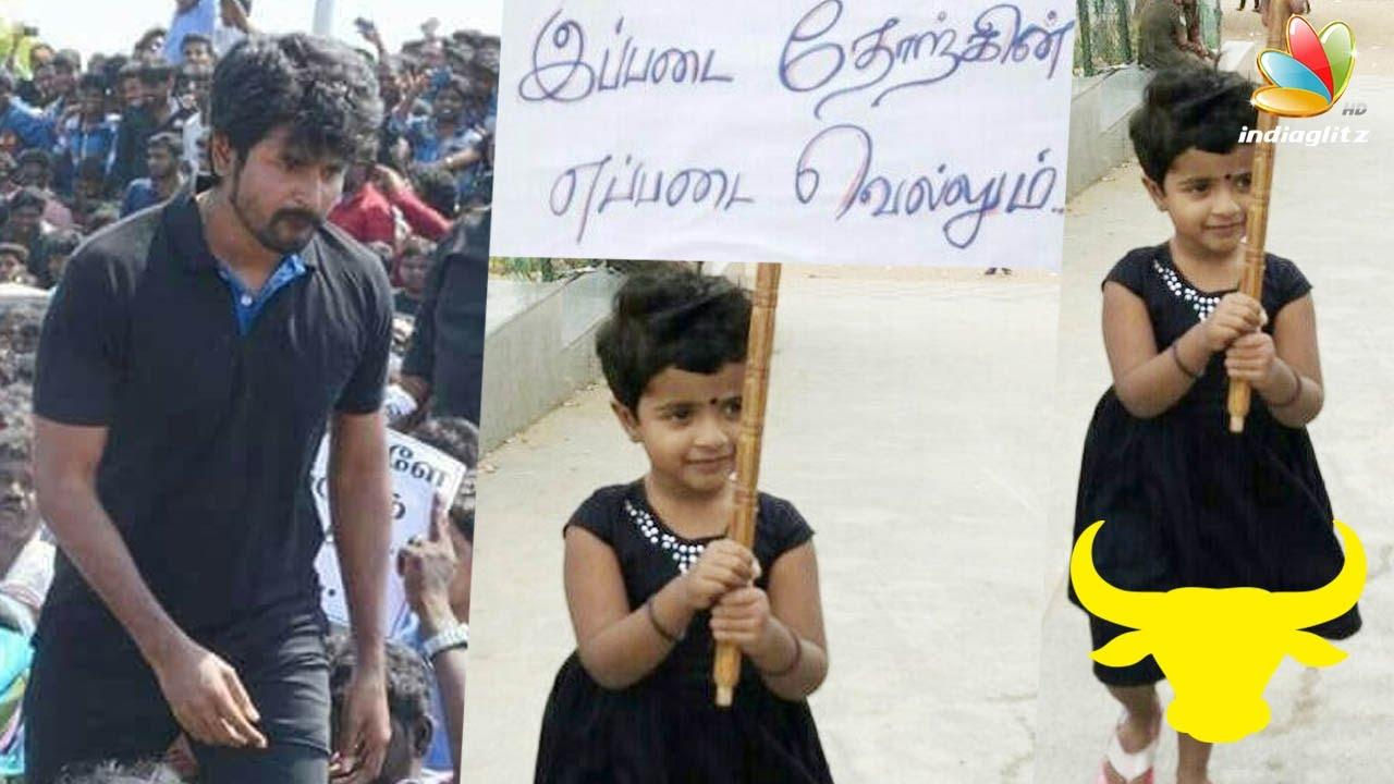 Sivakarthikeyan's daughter joins Jallikattu Protest | Latest Tamil Cinema  News
