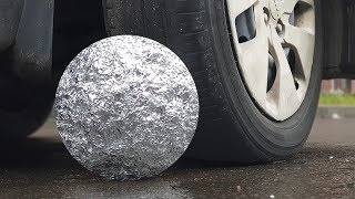 EXPERIMENT: CAR VS FOIL BALL