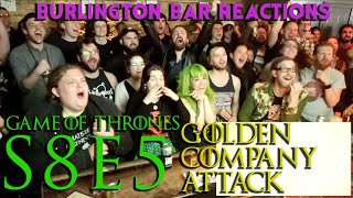 Download Game Of Thrones // Burlington Bar Reactions // S8E5 // GOLDEN COMPANY ATTACK REACTION!! Mp3 and Videos