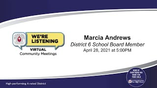 School District of Palm Beach County District 6 Virtual Community Meeting