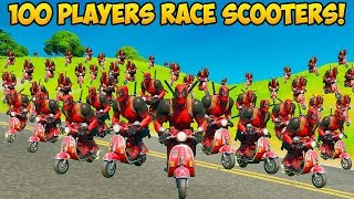 *100 PLAYERS* DO THE SCOOTER EMOTE!! (PERFECT TIMING) - Fortnite Funny Fails! #875