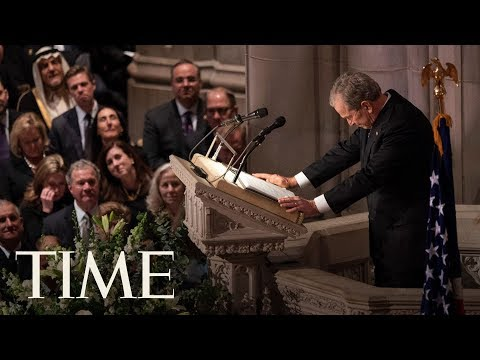 George W. Bush Emotionally Honors His Father, A Great And Noble Man, At State Funeral | TIME