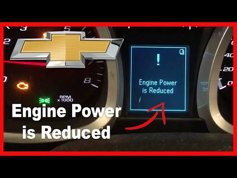 Chevy Equinox Engine Power Is Reduced Solution