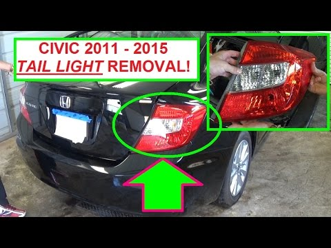 Honda Civic Tail Light Assembly Removal And Replacement 2
