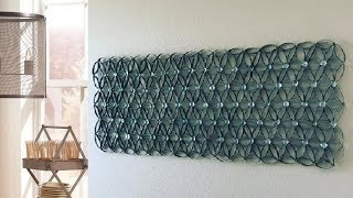 DIY Home Wall Decor out of Marbles and Paper Tubes
