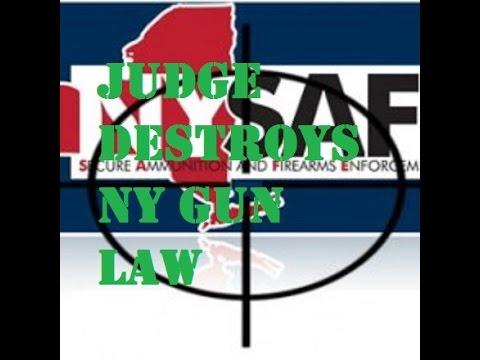 Judge Destroys the New York Gun Control Law!