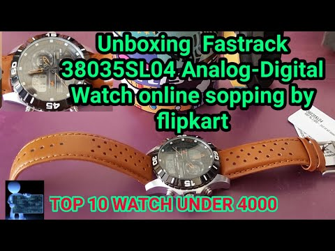 Unboxing  Fastrack 38035SL04 Analog-Digital Watch Sopping By Flipkart
