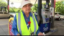 Elderly man still works as Sam's Club gas station attendant