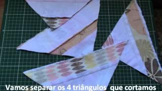 Como fazer um bloco fácil de tiras em patchwork