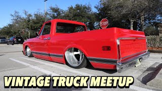 🔴 BAGGED CHEVY C10 LS POWERED [Cars & Coffee Sunday Meet] - Generation Oldschool
