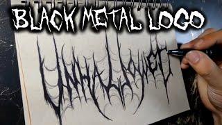 Скачать Black Metal Logo Speed Drawing