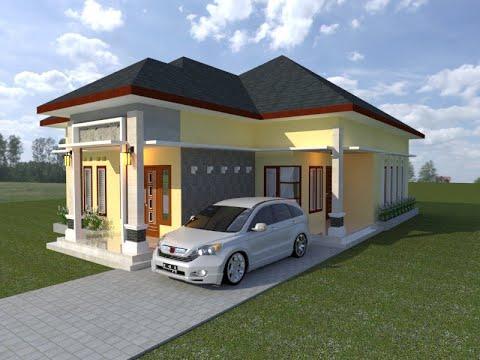 Desain 16 Desain Rumah Minimalis Leter L 3 Kamar Tidur 2 Wc Denah 9x21 Youtube