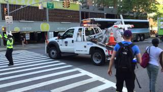 VERY RARE CATCH OF NY & NJ PORT AUTHORITY TOW TRUCK RESPONDING MODIFIED ON DYER AVE. IN MANHATTAN.