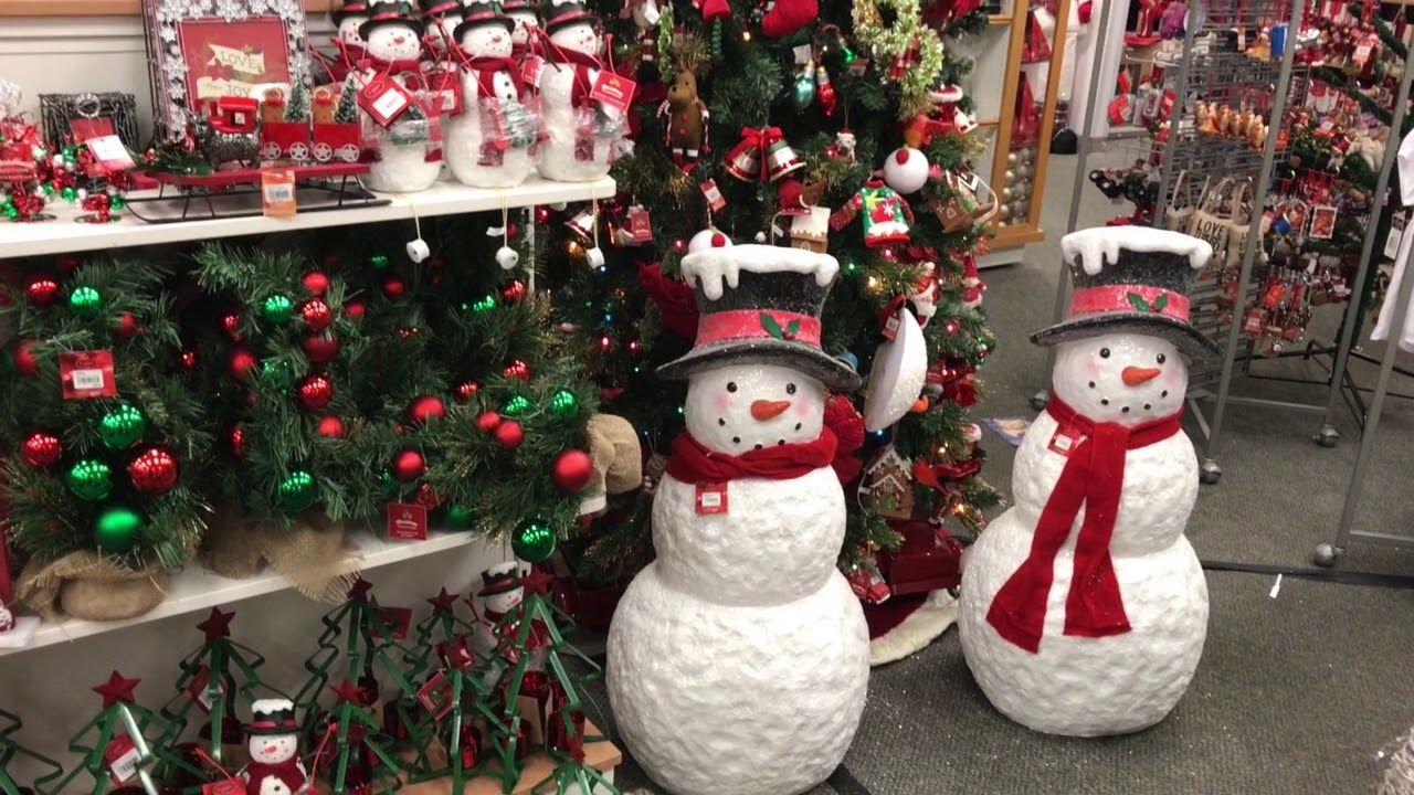 kohls christmas decorations in store set up october 2017 first look