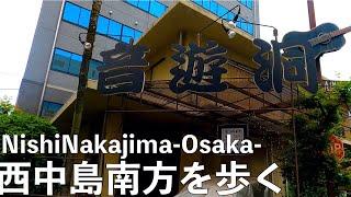 [4K] 大阪メトロ御堂筋線を散歩#18 西中島南方周辺-Walking Tour Nisninakajima Minamikata Osaka Japan- Gopro Hero8