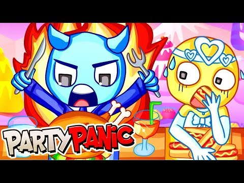EATING ALL OF THE FOOD in PARTY PANIC! (Funny Moments)