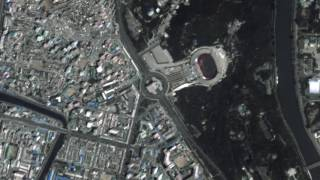 a rare video of north korea its capital pyongyang from the iss