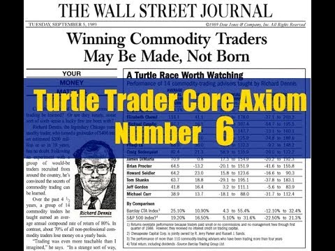 Turtle Trader Core Axiom Number 6