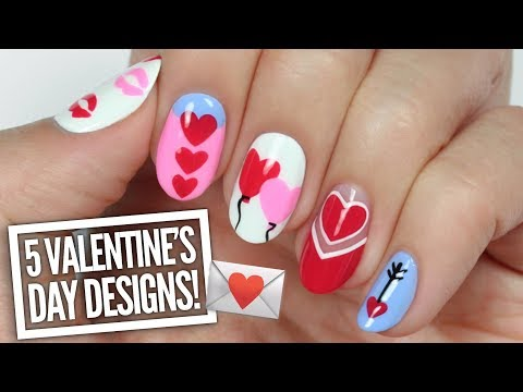 5 Cute Valentine's Day Nail Art Designs!