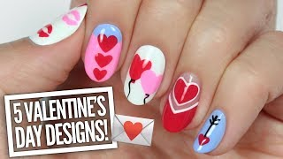 5 Cute Valentine's Day Nail Art Designs!