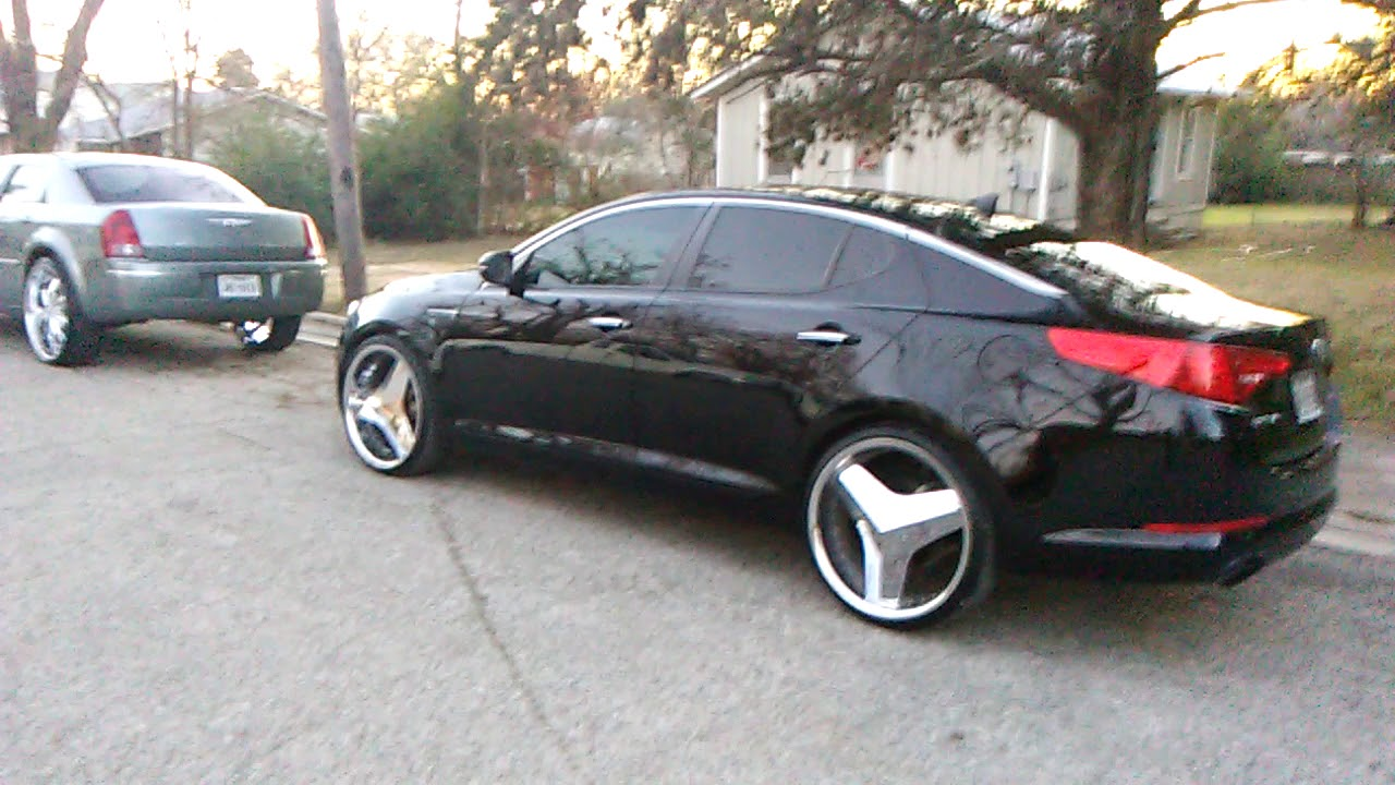 Rims Chrysler 300 Lifted On 26 Inch Rims And Kia Optima On 22 Inch Blades  Gonzales Tx