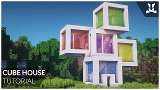 Minecraft | CUBE HOUSE (How to Build: Relaxing Tutorial)