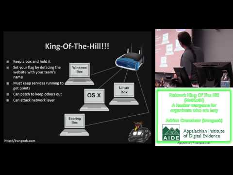 AIDE 2013 - Network King Of The Hill (NetKotH) A hacker wargame for organizers