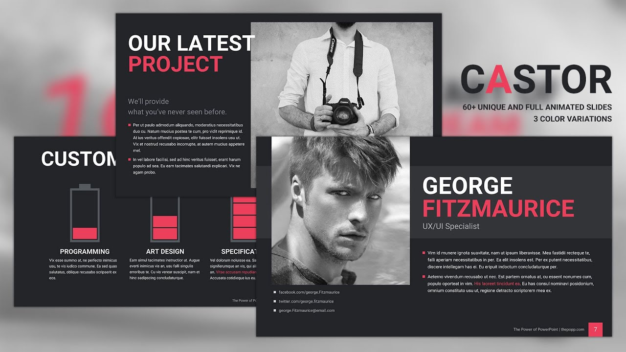 Castor free powerpoint template youtube toneelgroepblik Choice Image