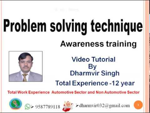 Problem Solving Technique Awareness Training