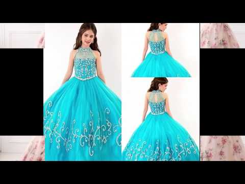 Kids Ball Gowns | Girls Prom Dresses | Little Girl Party Wear Dresses
