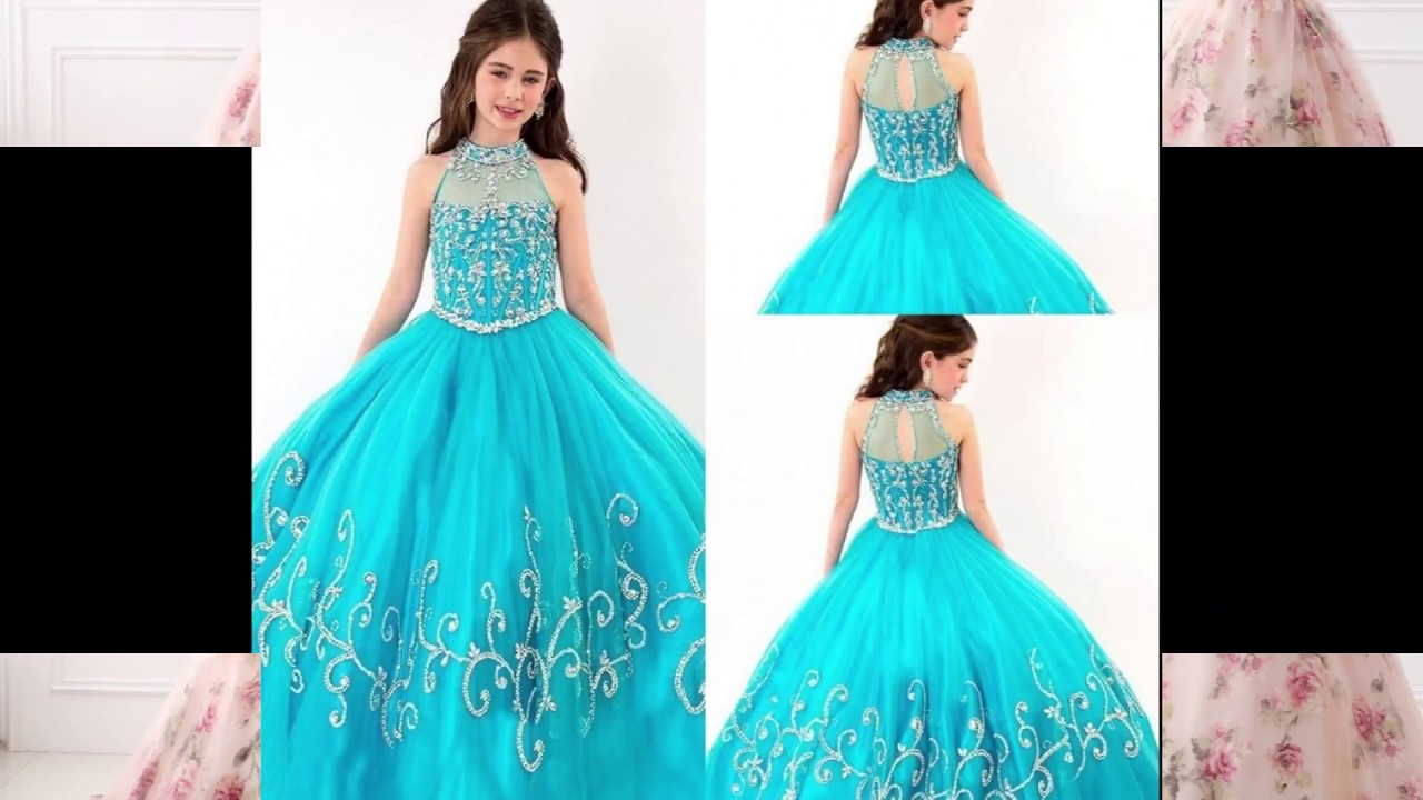 Kids Ball Gowns Girls Prom Dresses Little Girl Party Wear
