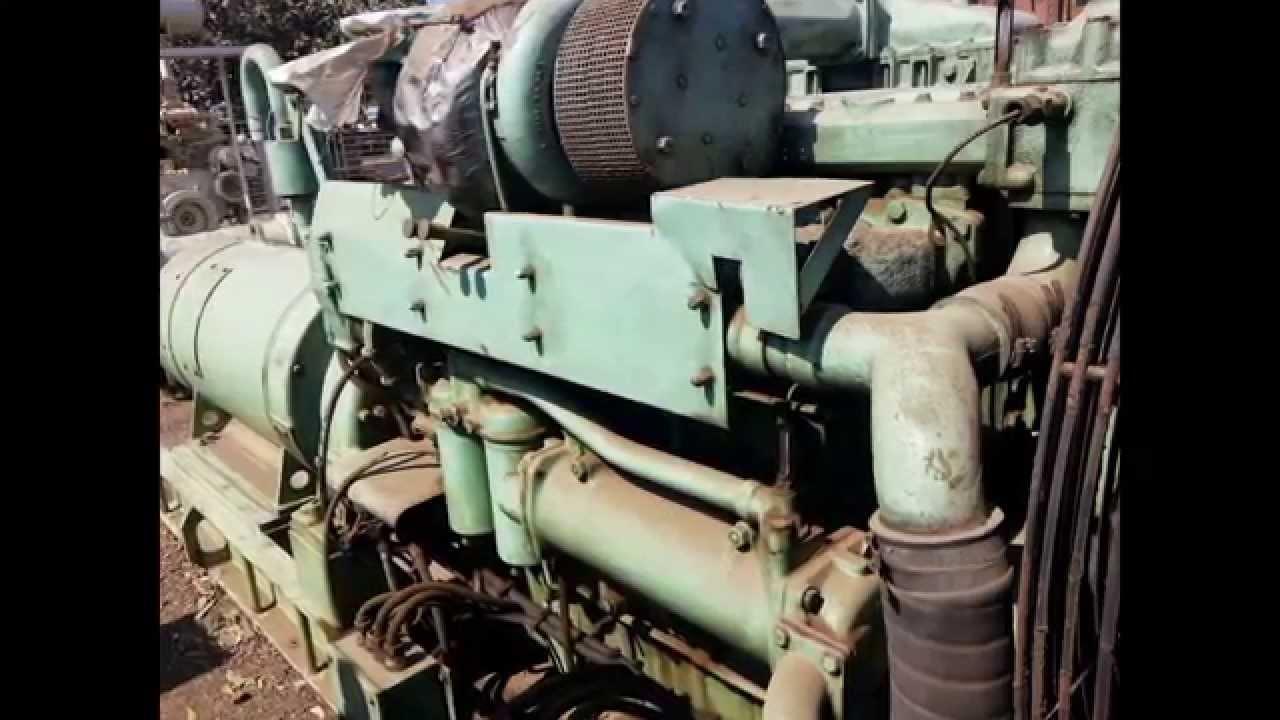 Yanmar 6 laal dt 1 marine diesel generator for sale used reconditioned