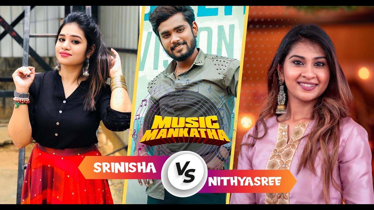 Nithyasree Vs Srinisha Jeyaseelan on Music Mankatha   Sam Vishal   DJ Black   Media Masons