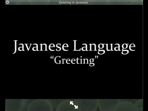 """""""Greetings"""" in Javanese"""