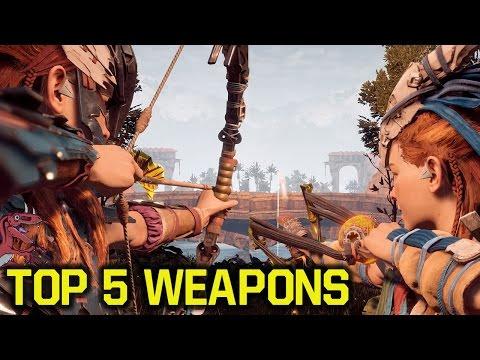 Horizon Zero Dawn tips and tricks - TOP 5 Best WEAPONS (Horizon Zero Dawn best weapons)