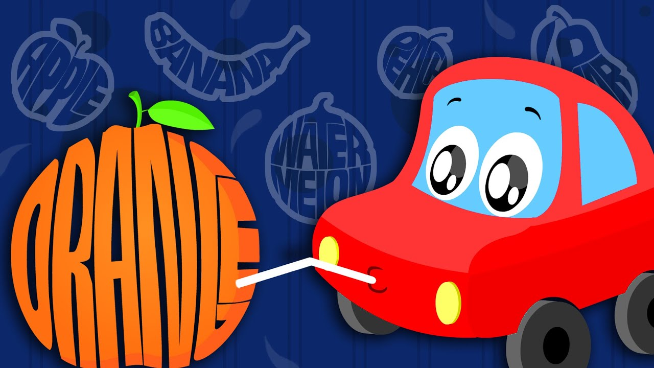 little red car rhymes fruits song car songs rhymes for kids youtube