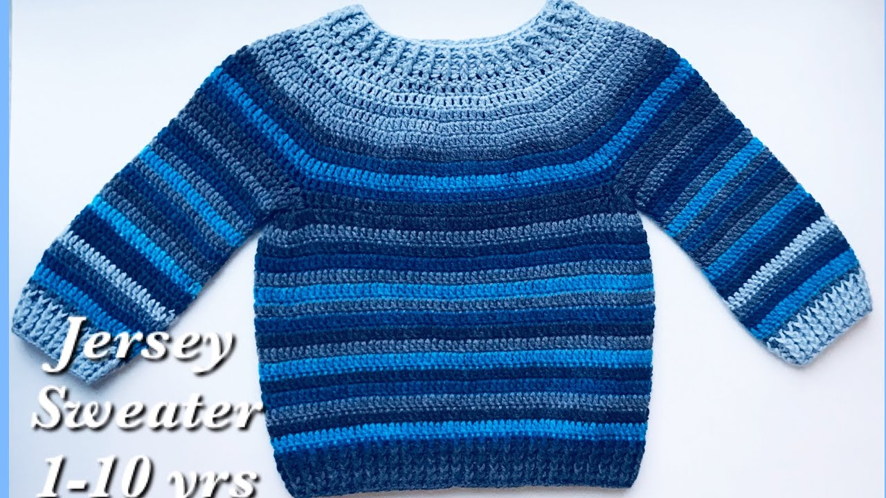 How to Crochet Easy Raglan top Pullover Sweater for boys and girls 2 3 years Crochet for Baby #201