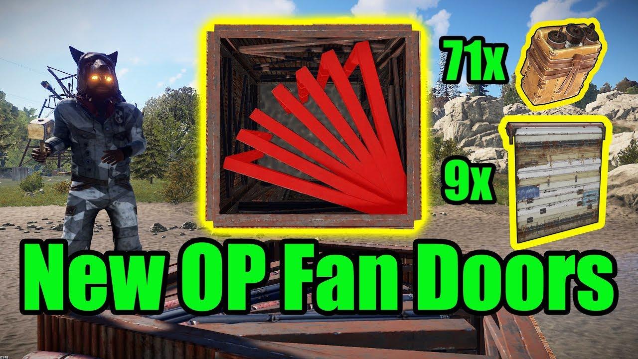 NEW OP Fan Doors - 9 Door Airlock - Rust base building 3.0 & NEW OP Fan Doors - 9 Door Airlock - Rust base building 3.0 - YouTube