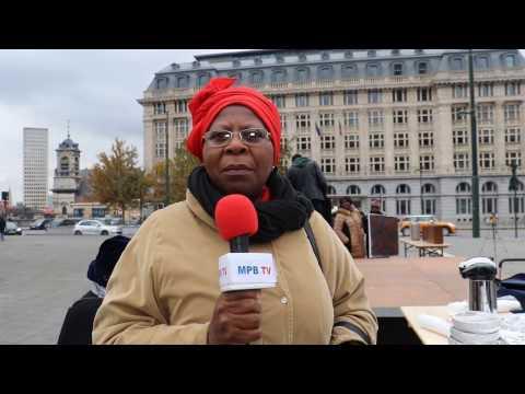 Reportage: Justine Kasa-Vubu  au Sit In des Femmes Congolaises contre le 3e Mandat de Kabila