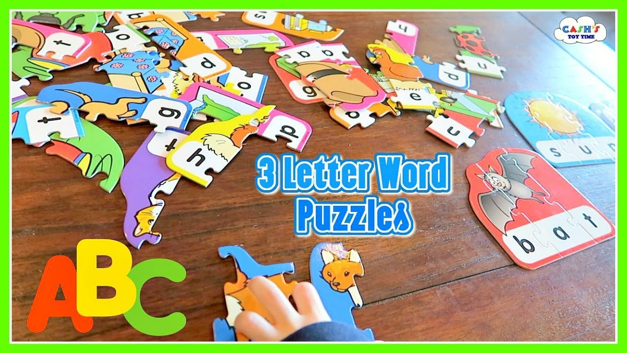 LEARNING ABC's - Word Building Puzzles with 3 Letter Words